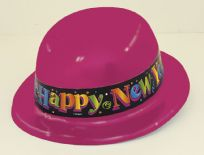 New Years Plastic Derby Hat